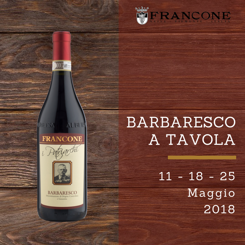 Blind Tasting Dinner with Barbaresco a Tavola 2018